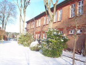 Die Jugendherberge Malchow im Schnee