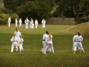 Trainingslager der Kampfsportler