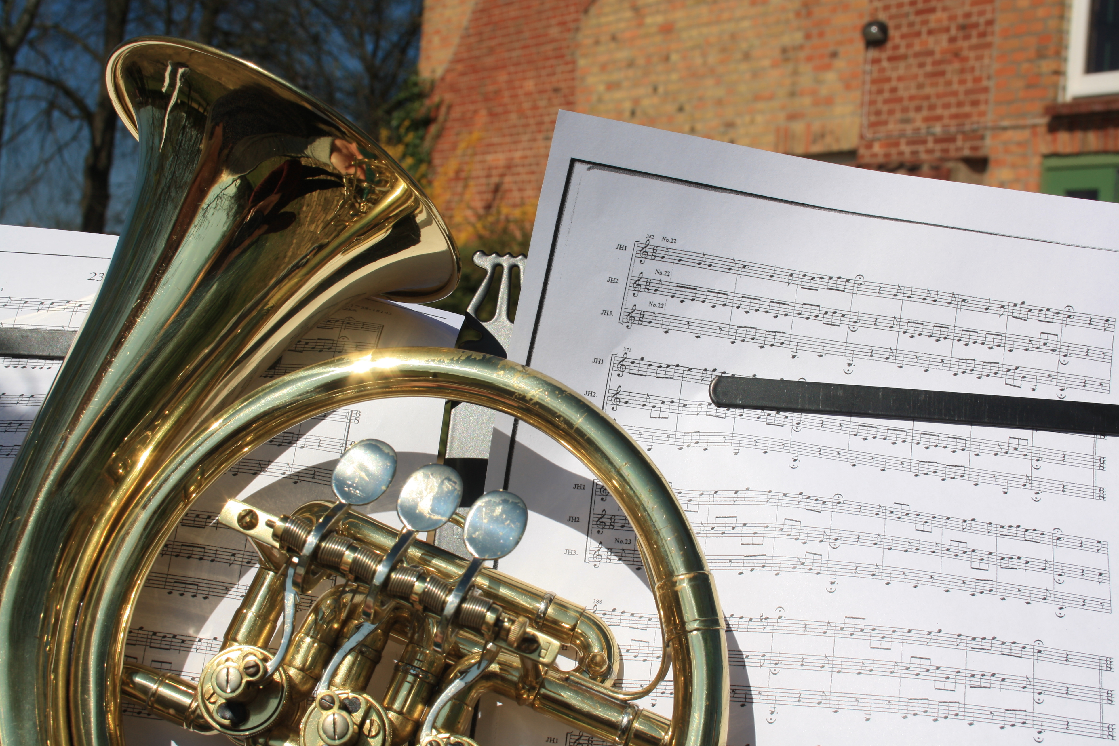 Orchesterprobe in der Jugendherberge Malchow