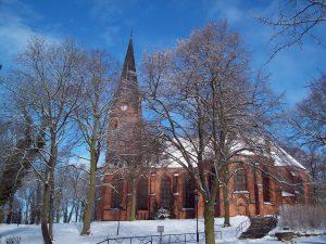 Winter in Malchow- Stadtkirche