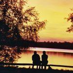 Sonnenuntergang an der Seenplatte